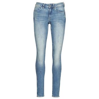 Textiel Dames Skinny Jeans G-Star Raw Midge Zip Mid Skinny Wmn Lt / Vintage / Aged / Destroy