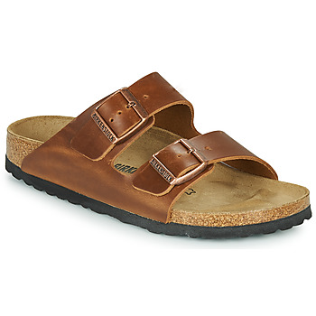 Schoenen Leren slippers Birkenstock ARIZONA LEATHER Brown