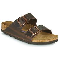 Schoenen Dames Leren slippers Birkenstock ARIZONA SFB LEATHER Brown