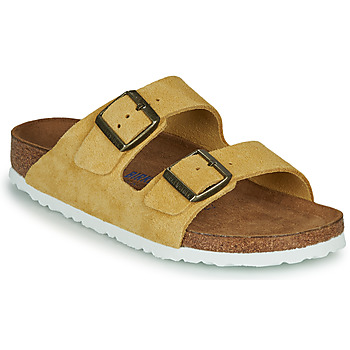 Schoenen Dames Leren slippers Birkenstock ARIZONA SFB LEATHER Mosterd