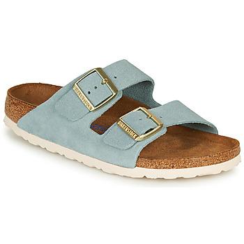 Schoenen Dames Leren slippers Birkenstock ARIZONA SFB LEATHER Blauw