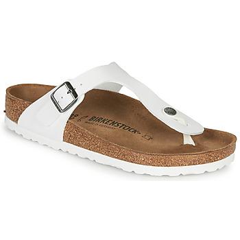 Schoenen Dames Slippers Birkenstock GIZEH Wit