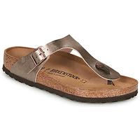 Schoenen Dames Slippers Birkenstock GIZEH Brons