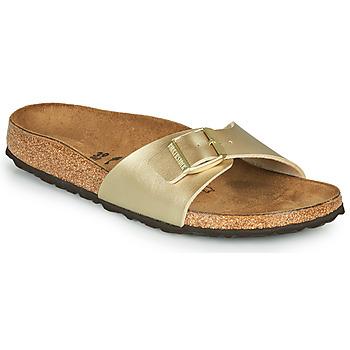 Schoenen Dames Leren slippers Birkenstock MADRID Gold / (goud)