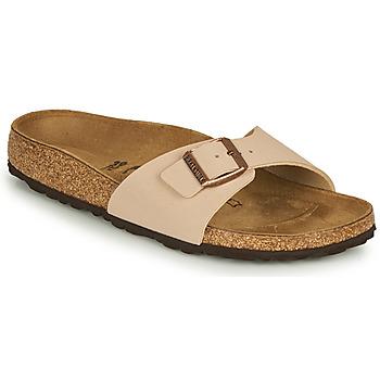 Schoenen Dames Leren slippers Birkenstock MADRID Beige