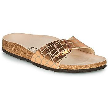 Schoenen Dames Leren slippers Birkenstock MADRID Gold