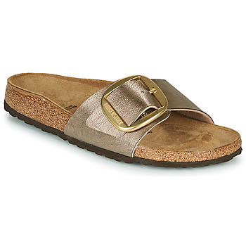 Schoenen Dames Leren slippers Birkenstock MADRID BIG BUCKLE Graceful / Taupe