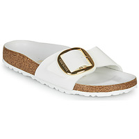 Schoenen Dames Leren slippers Birkenstock MADRID BIG BUCKLE Wit / Vernis
