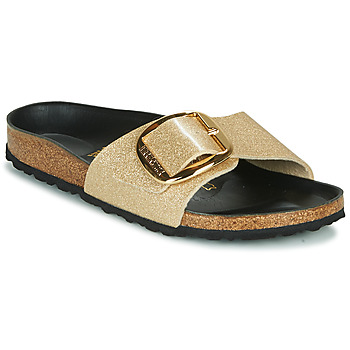 Schoenen Dames Leren slippers Birkenstock MADRID BIG BUCKLE Goud