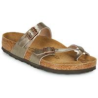 Schoenen Dames Leren slippers Birkenstock MAYARI Brons