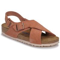 Schoenen Dames Sandalen / Open schoenen Birkenstock TULUM SFB LEATHER Earth / Rood / (aarde / Rood)