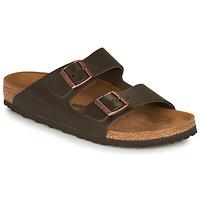 Schoenen Heren Leren slippers Birkenstock ARIZONA LEATHER Brown