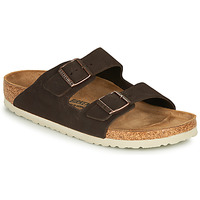 Schoenen Heren Leren slippers Birkenstock ARIZONA LEATHER Brown