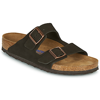 Schoenen Heren Leren slippers Birkenstock ARIZONA SFB LEATHER Brown