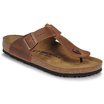Schoenen Heren Slippers Birkenstock MEDINA LEATHER Antik / Bruin