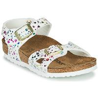Schoenen Meisjes Sandalen / Open schoenen Birkenstock RIO Wit / Multicolour