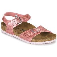 Schoenen Meisjes Sandalen / Open schoenen Birkenstock RIO PLAIN Kosmisch / Sparkle / Oud / Roze