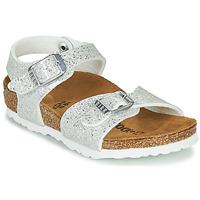 Schoenen Meisjes Sandalen / Open schoenen Birkenstock RIO PLAIN Wit