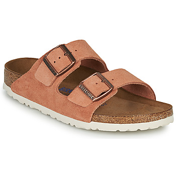 Schoenen Dames Leren slippers Birkenstock ARIZONA SFB LEATHER Rouille