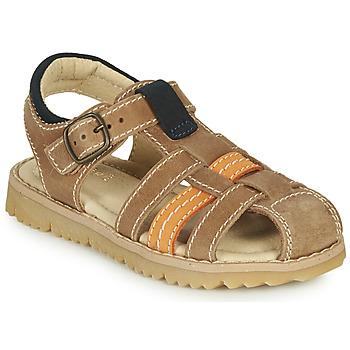 Schoenen Jongens Sandalen / Open schoenen André LEOPAUL Brown