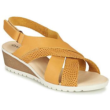 Schoenen Dames Sandalen / Open schoenen Damart MAYLO Geel