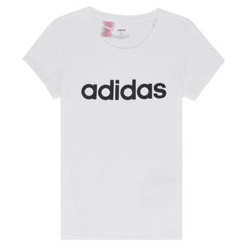 Textiel Meisjes T-shirts korte mouwen adidas Performance NELIZO Wit