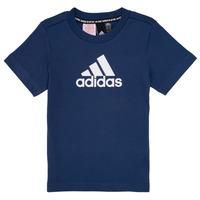 Textiel Jongens T-shirts korte mouwen adidas Performance BRIAN Marine