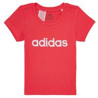 Textiel Meisjes T-shirts korte mouwen adidas Performance MAKIT Roze