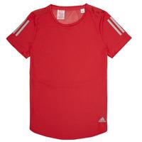 Textiel Meisjes T-shirts korte mouwen adidas Performance MELINDA Rood