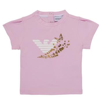 Textiel Meisjes T-shirts korte mouwen Emporio Armani Adrian Roze