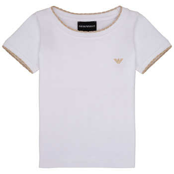Textiel Meisjes T-shirts korte mouwen Emporio Armani Allan Wit