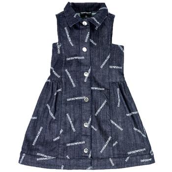 Textiel Meisjes Korte jurken Emporio Armani Andy Blauw