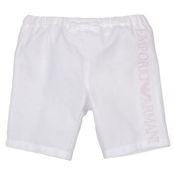 Textiel Meisjes Korte broeken / Bermuda's Emporio Armani Aniss Wit