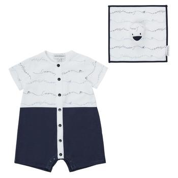 Textiel Jongens Jumpsuites / Tuinbroeken Emporio Armani Edouard Marine