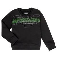 Textiel Jongens Sweaters / Sweatshirts Emporio Armani Austin Zwart