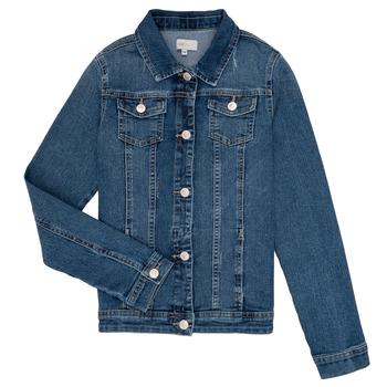 Textiel Meisjes Spijker jassen Only KONSARA Blauw