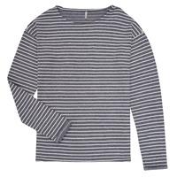Textiel Meisjes T-shirts met lange mouwen Only KONNELLY Wit / Marine