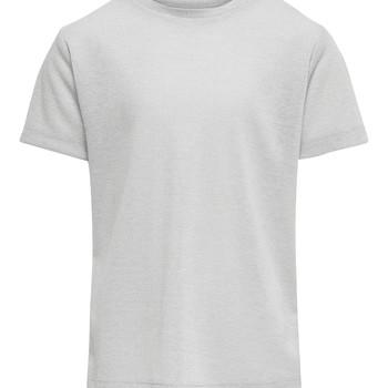 Textiel Meisjes T-shirts korte mouwen Only KONSILVERY Zilver