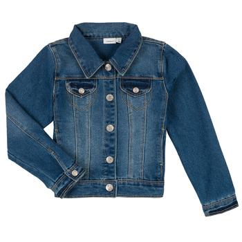 Textiel Jongens Spijker jassen Name it NITSTAR RIKA Blauw