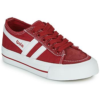 Schoenen Kinderen Lage sneakers Gola QUOTA II Rood / Wit