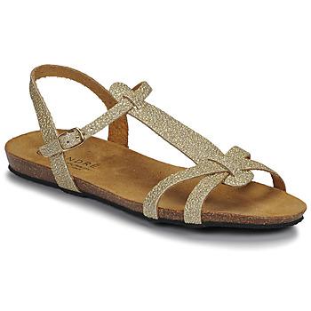 Schoenen Dames Sandalen / Open schoenen André BORA Goud