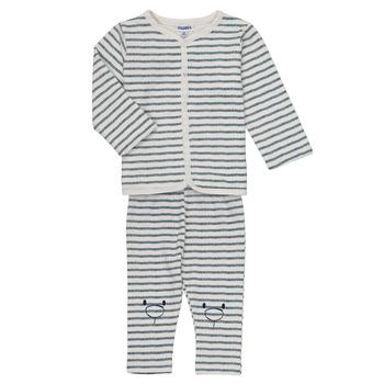 Textiel Jongens Setjes Noukie's KAIS Wit