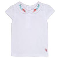 Textiel Meisjes T-shirts korte mouwen Carrément Beau MAYVE Wit