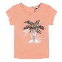 Textiel Meisjes T-shirts korte mouwen 3 Pommes EMMA Orange