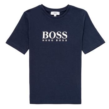 Textiel Jongens T-shirts korte mouwen BOSS MARIA Blauw