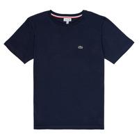 Textiel Jongens T-shirts korte mouwen Lacoste JOSEPHE Marine