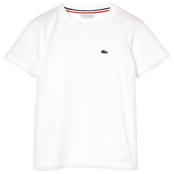 Textiel Jongens T-shirts korte mouwen Lacoste APAULINE Wit