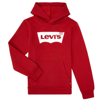 Textiel Jongens Sweaters / Sweatshirts Levi's BATWING SCREENPRINT HOODIE Rood