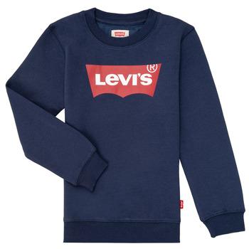 Textiel Jongens Sweaters / Sweatshirts Levi's BATWING CREWNECK Marine