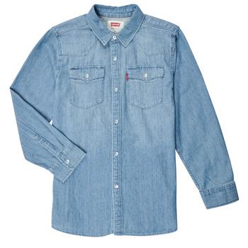 Textiel Jongens Overhemden lange mouwen Levi's BARSTOW WESTERN SHIRT Blauw